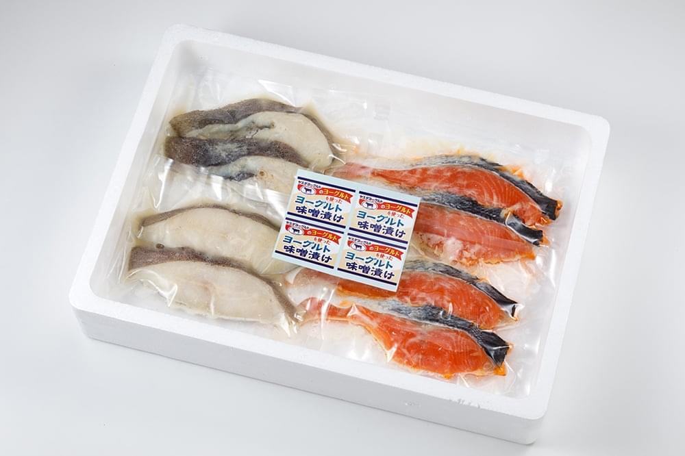 鮭のヨーグルト漬けと味噌漬け