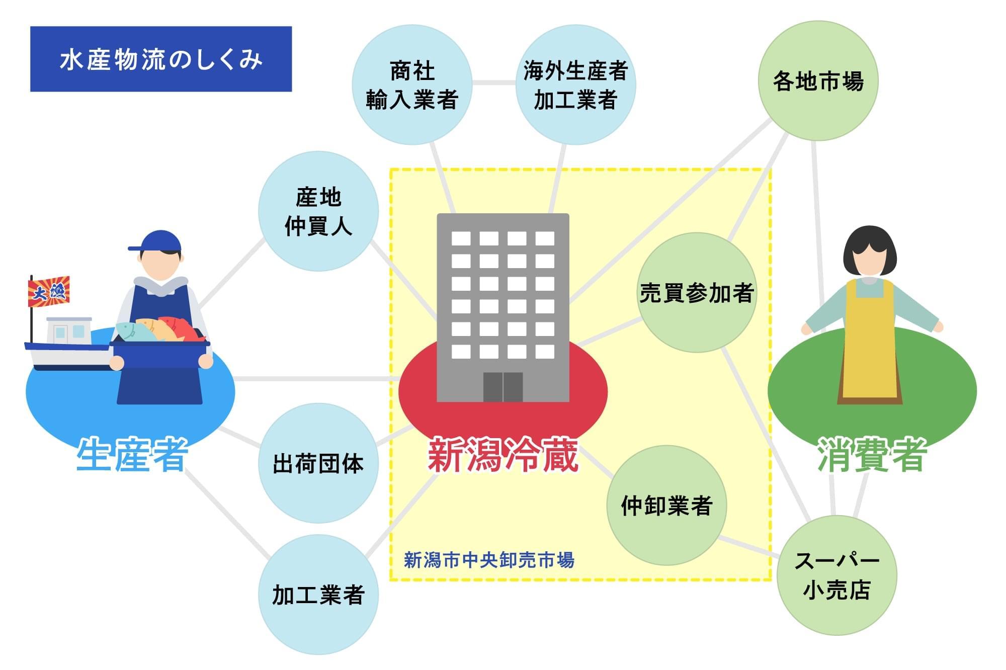 水産物流の図